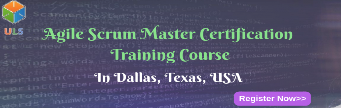 Book Online Tickets for Agile Scrum Master Certification Trainin, Dallas. UlearnSystem's Offer Agile Scrum Master(ASM) Certification Training Course in Dallas, Texas, USA. Agile Scrum Master Certification Training Course Description: Agile Scrum Master Course understanding of Agile methodologies and Scrum practices a