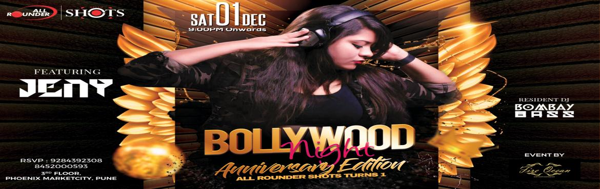 Book Online Tickets for Bollywood Night, Pune. All Rounder Shots presents the Saturday Bollywood Night Celebrate the best Bollywood tunes this Saturday at Pune\'s largest Nightlife venue with exclusive offers on Alcohol : • IMFL AT 79 TILL 9PM