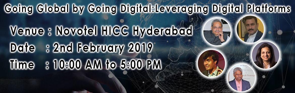 Book Online Tickets for Going Global by Going Digital : Leveragi, Hyderabad.    AboutThis latest edition of RightFOLIO's Conference is aimed at highlighting the power the digital medium holds. Digital transcends geographical boundaries and overcomes physical distances and barriers. Markets today are, therefore, global a