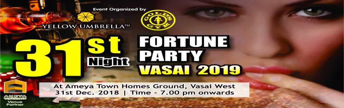 Book Online Tickets for 31st Night Fortune Party 2019, Mumbai. Yellow Umbrella presents the most amazing and versatile New Year Party. Unlimited Food Unlimited Starters Drinks (IMFL)* Dance Floors - Retro Zone: Lawn Party Dance Floor DJ Music Games – Games of Fortune - Tambola / Housie, Couple Games &ndash