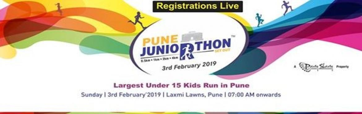 Book Online Tickets for Pune Juniorthon , Pune.   Pune Juniorthon will be the first ever annual running event for children & junior athletes in Pune. JUNIORTHON is all about Pune children running towards a healthier future and supporting a good cause. The goal of JUNIORTHON is to encourage out