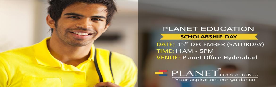 Book Online Tickets for Scholarship Day, Hyderabad. Planet Scholarship Day HyderabadWant to Study Abroad at one of world's top Universities and save 40% on your tuition fees.Want to study abroad on scholarship? Get expert guidance on scholarship options and the best way to apply at the Planet Sc