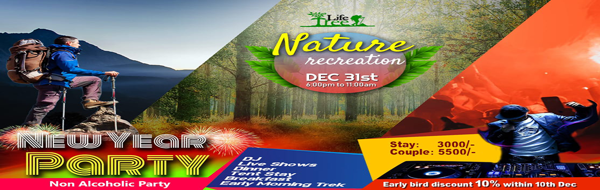 Book Online Tickets for Nature Recreation, Bengaluru. NewYear Party in the Lap of Nature Inclusions- DJ Dinner Tent stay Early Morning Trek Breakfast