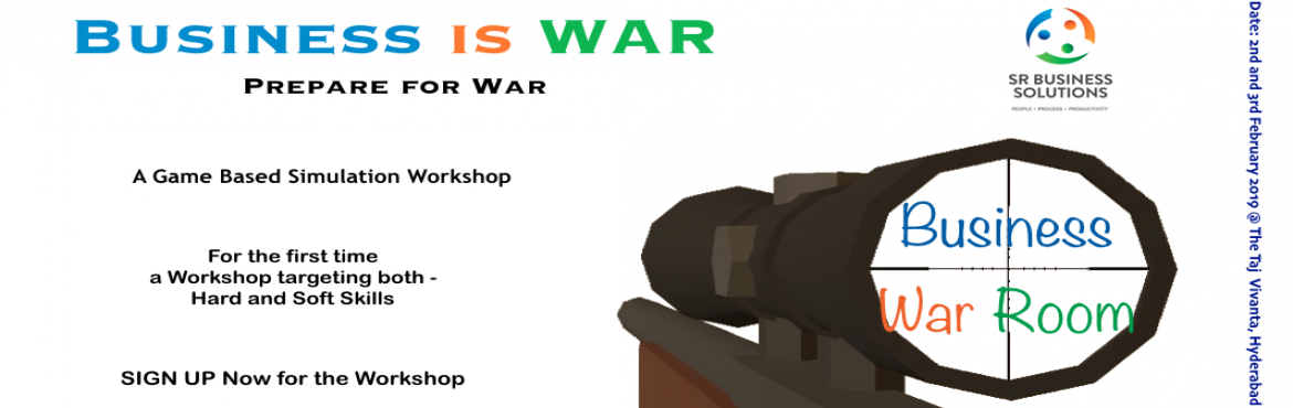 Book Online Tickets for Leadership Training - Business War Room, Hyderabad. Business is War.  Unlike a war though, most often we are unable to identify our enemy. Sometimes it is the competition but most often it is something in our own backyard which is attacking our business. A sales strategy, a leadership styl