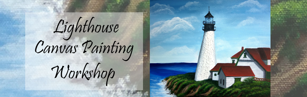 Book Online Tickets for Textured Lighthouse Canvas Painting, Mumbai. Textured Lighthouse Canvas Painting - This is advanced level painting covering the applications of textures and effects on canvas. Basic painting skills necessary. Painting Duration - 1 week Spend productive time this season by acquiring professional