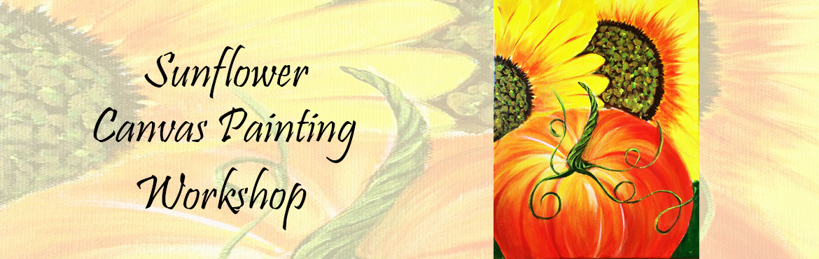 Book Online Tickets for Sunflower and Pumpkin Acrylic Painting, Mumbai. Sunflower & Pumpkin Acrylic Painting - Mid Level Painting for Beginners. Painting Duration - 2 Days Spend productive time this season by acquiring professional level Art Skills! Sunflower & Pumpkin is perfect to get introduced