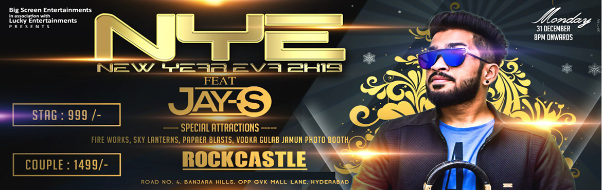 Book Online Tickets for New Year Eve 2k19 at Rock Castle, Hyderabad. New Year Eve 2k19 At Heart Of Hyderabad Banjara Hills Rock Castle  What better way to bid goodbye to the passing year and to welcome the New Year than throwing a glamorous and glorious New Year\'s Eve party for your friends, Relatives and famil