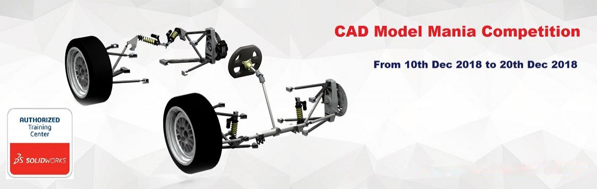 Book Online Tickets for SOLIDWORKS CAD Model Mania Competition, Pune. Dear Participants, Model Mania has been an attraction for many engineers wanting to show off their SOLIDWORKS skills. Model Mania, for those not familiar, is a design challenge where you are measured on both time and accuracy. First, y