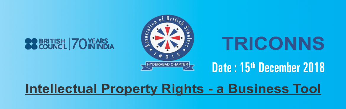 Book Online Tickets for Intellectual Property Rights - A Busines, Hyderabad.
