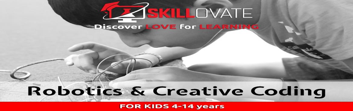 Book Online Tickets for FREE Robotics and CReative Coding Demo W, Pune. Bookkad Cafe & Skillovate Learning brings FREE DEMO ON CREATIVE CODING & ROBOTICS FOR KIDS of AGE 4 TO 14 YEARS Skillovate Learning is an afterschool programme to teach 21st-century skills to kids like Creative Coding & Robotics of age 4