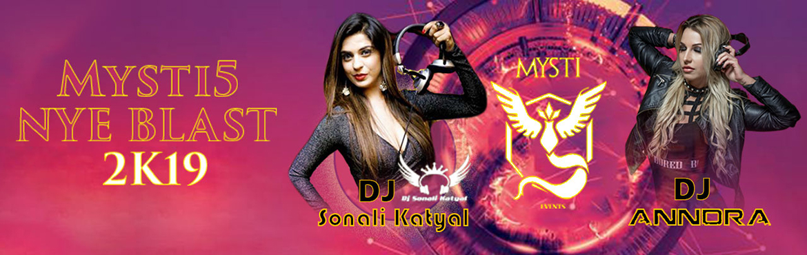 Book Online Tickets for Mysti5 NYE Blast 2K19 at Begumpet Hockey, Hyderabad. To mark the beginning of the new year we have two sizzling hot DJ\'S for the very first time in Hyderabad. DJ Anndra from London and DJ Sonali Katyal, fame MTV Splitsvilla 7. Alcohol,mocktail, cocktail and all kind of dishes available Fire works, lig