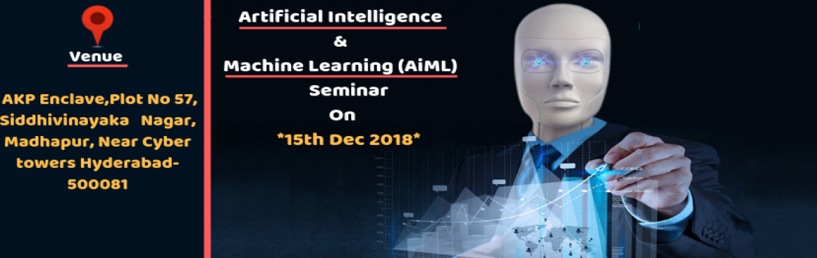 Book Online Tickets for Artificial Intelligence - Machine Learni, Hyderabad.   Saransh Software solutions is going to conduct an exclusive one-day seminar onAIMLon15th Dec @ 2PM  Topics Covered: Why so much hype around AIML? A Detailed analysis to back it up.In what ways AIML is going to be