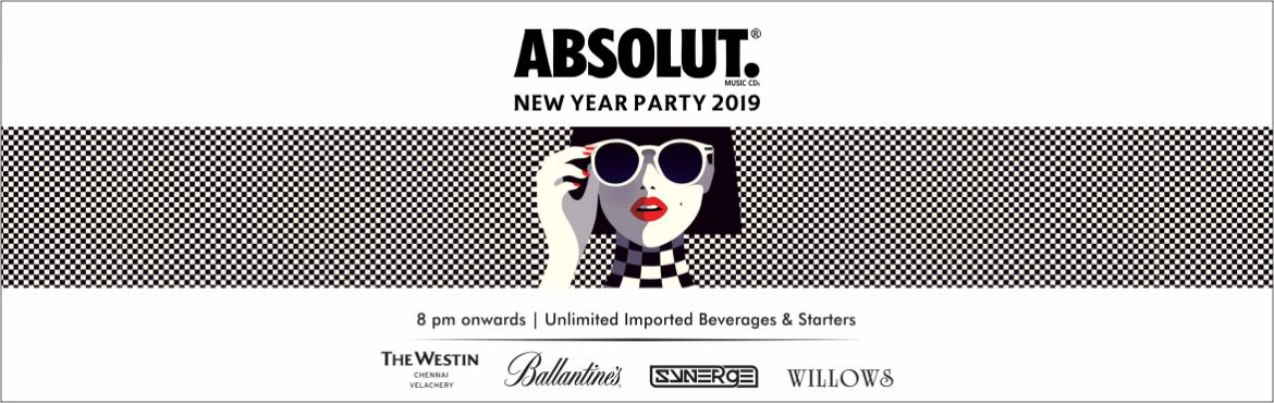 Book Online Tickets for Absolut Official New Year Party 2019 @ T, Chennai.     THE WESTIN Presents  ABSOLUT New Year Party 2019at WILLOWS, The Westin Chennai. There are number of New Year Events in Chennai but you never forget the New year night experience that you are going to at The Westin. Enjoy 31st Dec Night Part
