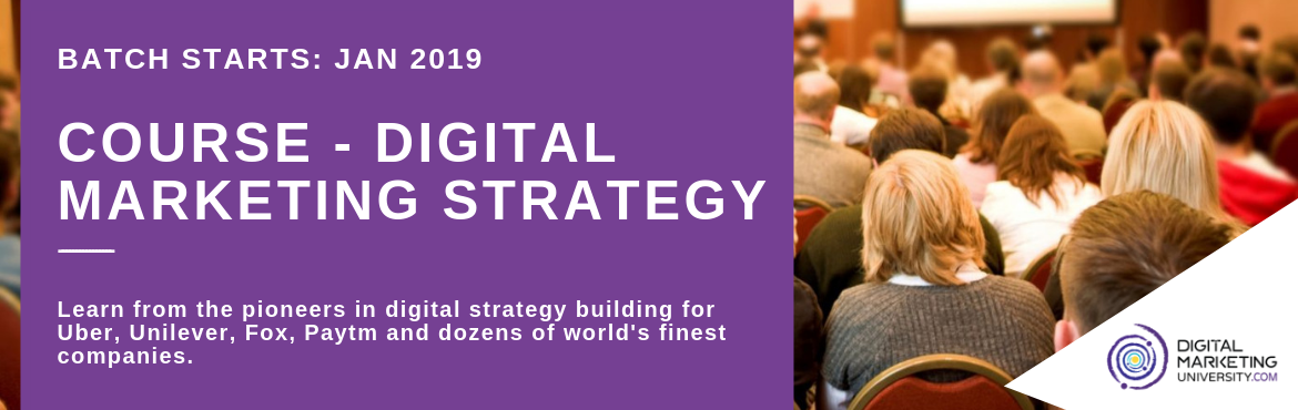 Book Online Tickets for Course - Digital Marketing Strategy By D, Kolkata. Before you step into the technical aspects of digital, you need to understand the fundamentals first. TheDigital Marketing Strategy Moduleis for those who want to leapfrog in their career by choosing digital as a career growth tool and al