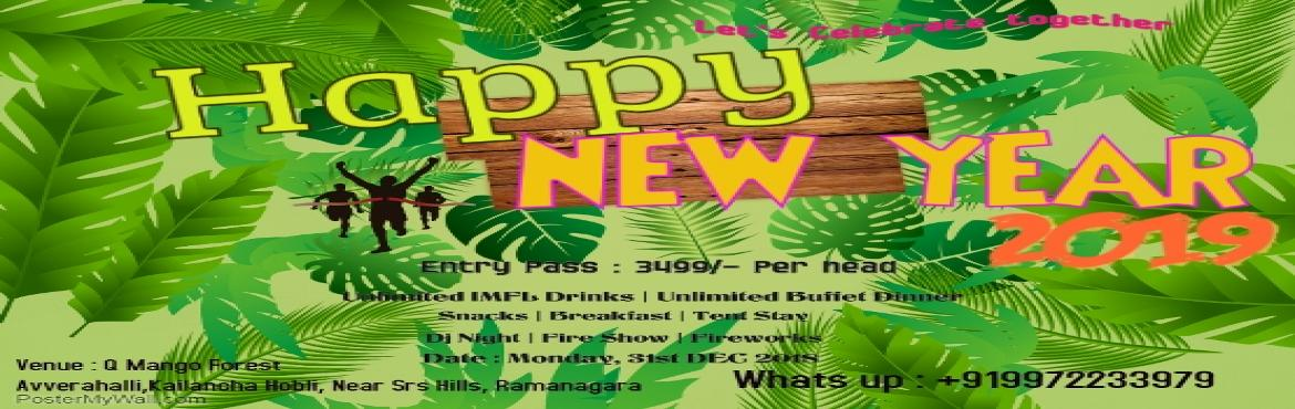 Book Online Tickets for Welcome New Year 2019 - Camp in Nature, Bangalore. Welcome 2019 in style by celebrating in the perfect serene environment. Hearty Welcome to  2019,Enjoy the final beautiful and emotional SUNSET of 2018 with your loved and dear ones in your own private setting and relaxing music.As it is away fro