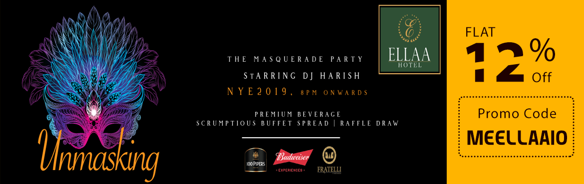 Book Online Tickets for New Year Eve Party 2019 at Ellaa Hotels, Hyderabad. The New Year's Eve party season is inching closer. It's that time of the year to list out new resolutions and start 2019 on a high note. The Ellaa Hotel Hyderabad is stealing the show with a special sparkling show that is sure to daz