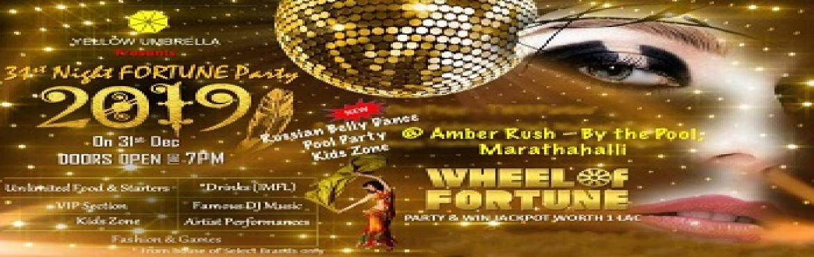 Book Online Tickets for 31st Night Fortune Party 2019 Marathahal, Bengaluru. About The Event Yellow Umbrella presents the most exciting New Year Bash in Marathahalli – Bangalore Party as a Single, Couple or with Family. One Stop Party place for all.. Special attraction: - Russian Bell