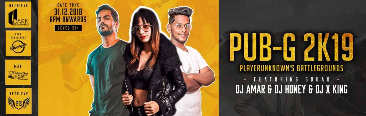 Book Online Tickets for PUBG 2K19 at D Lake View Resort, Hyderabad. A night to remember !! A year to relish !! Hyderabad Pack in the excitement to celebrate the last night of 2018 with a New Celebrations for a new cause as we stand for welcoming 2019. Swing into this New year with great excitement and fun as we are g