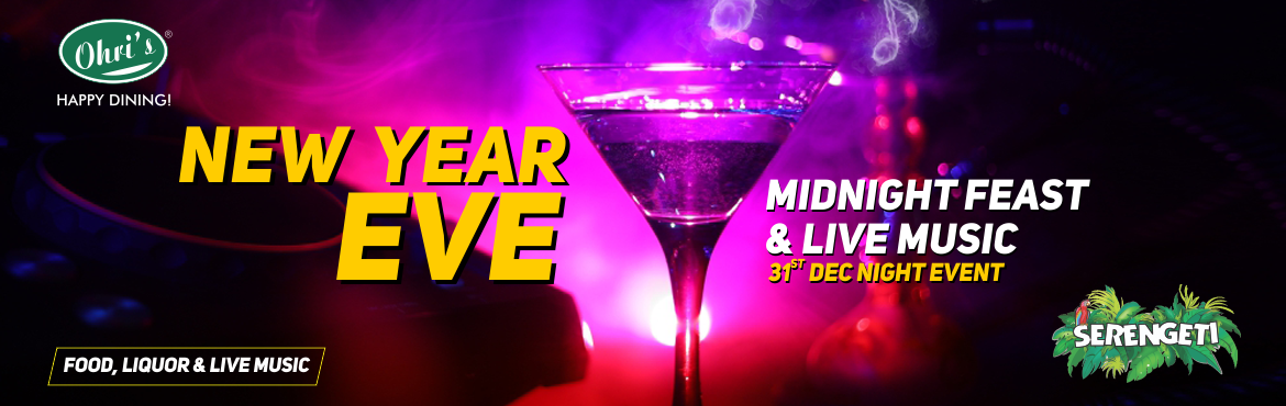 Book Online Tickets for New Year Eve party @ Ohris Serengeti, Hyderabad. Make this New Year Eve 2019 a memorable one by Planning a sweet Gesture with your Family and Friends at Ohri's restaurants!! This new year, reverberate in the celebrations at your favorite Ohri's restaurants with: Live music Unlimited Foo