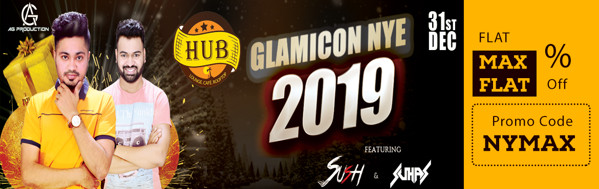Book Online Tickets for HUB Bollywood GLAMICON NYE , Pune. HUB New Year Blast is known for the craziest and Biggest rooftop party in town. HUB is hosting hottest DJs of the DJ SUSH who will be peforming Audio Visual DJing and DJ SUHAS mixing some amazing Bollywood and Punjabi music. HUB offers Unlimited Liqu