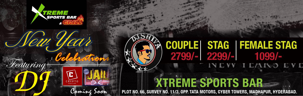 Book Online Tickets for NYE-2019 at Xtreme Sports Bar, Hyderabad. NYE-2019 at Xtreme Sports Bar