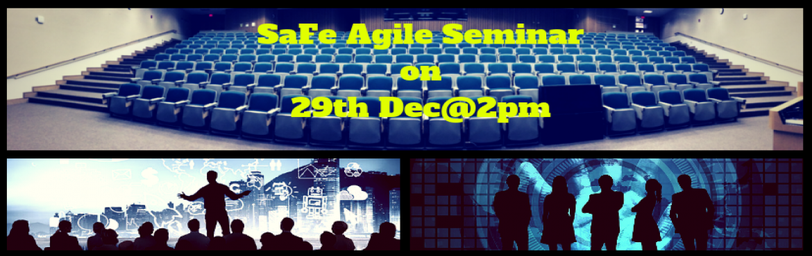 Book Online Tickets for SaFe Agile Seminar| SaFe Agile training-, Hyderabad. Greetings from Saransh Software Solutions! Saransh Software solutions is a Global organization specialized in providing IT training, IT staffing and Software development services. We are totally immersed in conducting World-class IT training programs