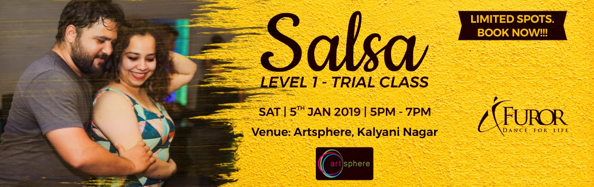 Book Online Tickets for Salsa Dance - Level 1 Trial Class - 5th , Pune. Start your NEW YEAR with style and groove with SALSA DANCE - LEVEL 1 TRIAL CLASS  Designed for both non-dancers and dancers alike, this super fun and popular class is a perfect way to start your journey as a Salsa dancer. In this class you will be le