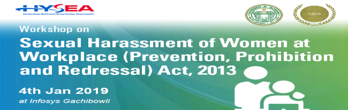 Book Online Tickets for Workshop on Sexual Harassment of Women a, Hyderabad.