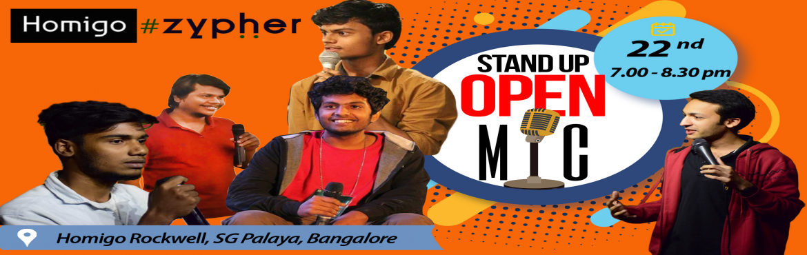 Book Online Tickets for The Stand-Up Show By Zypher, Bengaluru. Take An early break from your weekday routine by indulging in a healthy dose of laughter in the company of some of Bangalore's best comedians and fall of your chair laughing. Watch them work out their material of raw comedy talent, refine old m