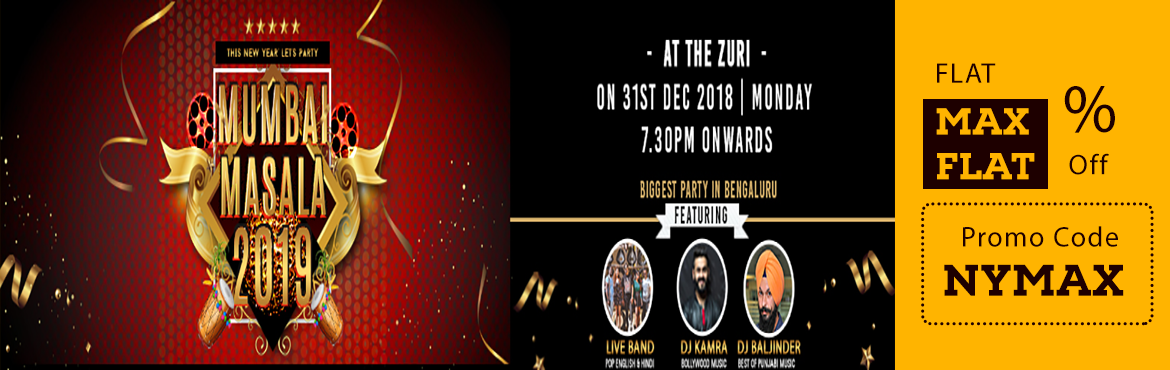 Book Online Tickets for Mumbai Masala 2019, Bengaluru. Three Venues, three different floors, three genre of music, great food, premium beverage, international acts and many more all under one roof. Specifications: ·Punjabi Music @ B