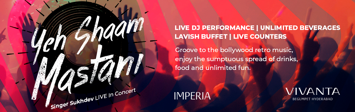 Book Online Tickets for New year 2019 at Vivanta (Imperia), Hyderabad. Electrifying dance performances·Power packed singing performance by renowned pop singer - Sukhdev·Dance the night away with Celebrity Music Jockey.·To top it up… unlimited liquor and international gastron