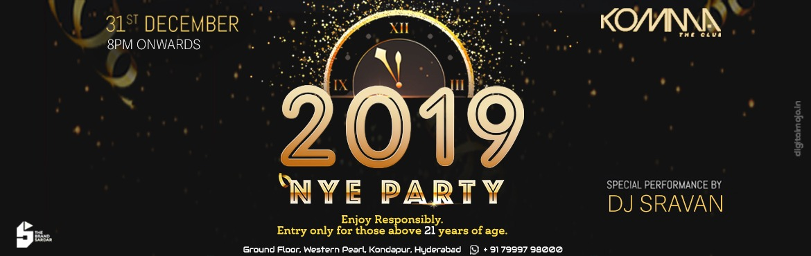 Book Online Tickets for New Year Eve Party at Komma, Hyderabad. This new year\'s eve, don\'t keep calm but mix on to the tunes of some of the best DJs around. Party hard like there\'s no tomorrow with an unlimited supply of imported liquor. Choose from a wide variety of delicious food served on our menu. The best