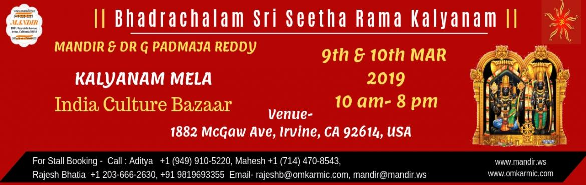 INDIA CULTURE BAZAAR-KALYANAM MELA ( EXHIBITION ) - Irvine | MeraEvents com