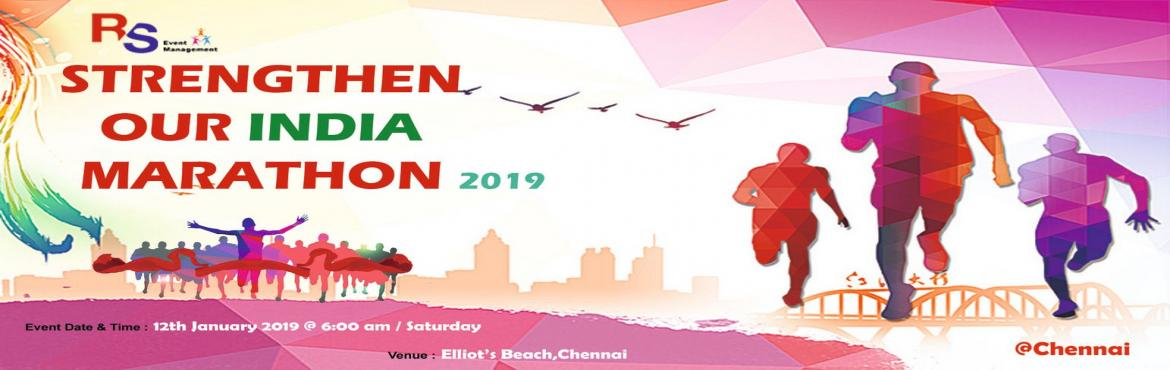 """Book Online Tickets for Strengthen Our INDIA Marathon 2019, Chennai.  NATIONAL YOUTH DAY (SWAMI VIVEKANANDHAR'S BIRTHDAY)  Run for """"STRENGTHEN OUR INDIA """" SPECIAL MARATHON We are happy to introduce ourselves as one of the leading educational and charitable Trust working for the upliftment"""