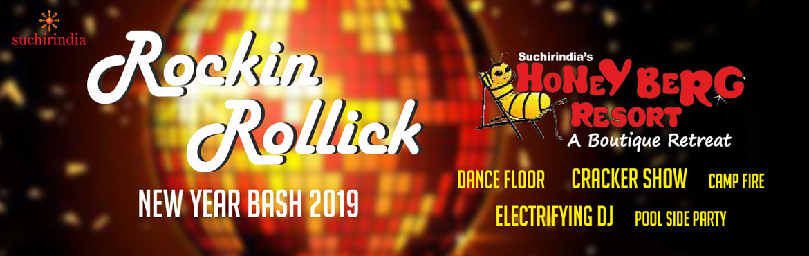 Book Online Tickets for Rockin Rollick New Year Bash 2019, Hyderabad. Suchirindia Hotels & Resorts (P) Limited was set up by Suchirindia Group to foray into the hospitality sector. Resorts, Clubs, Theme Parks and other entertainment centers are being set up, initially in and around Hyderabad, major towns of State G