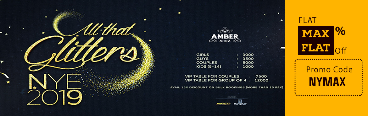 Book Online Tickets for All That Glitters, New Year Eve 2019: Am, Mandrem. New Year Party 2019: All That Glitters, GOA Kiss goodbye to 2018 and celebrate the year that was by ringing in the New Year with an over-the-top ambience, eclectic music, & free- flowing F&B! Dance the night away with an open air ambience &am