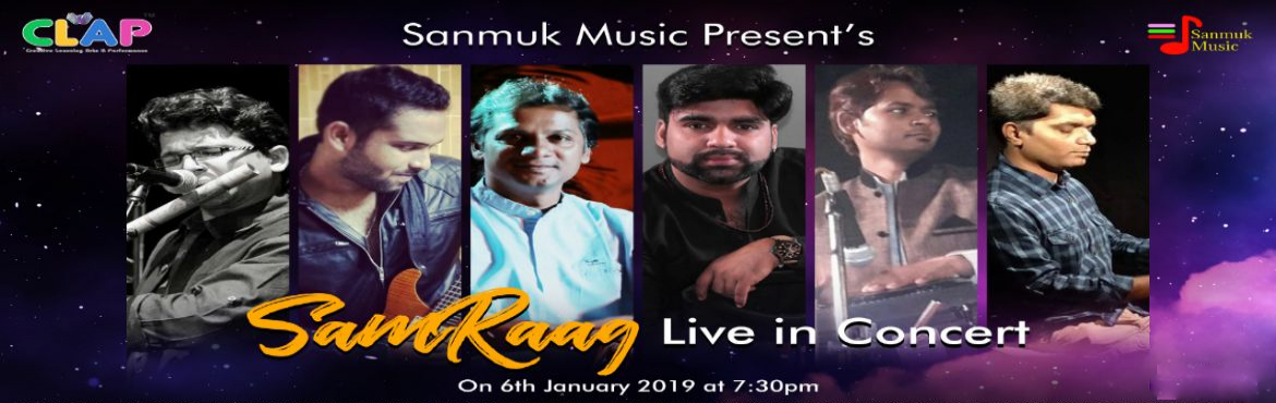 Book Online Tickets for SamRaag-Live in Concert, Mumbai. A unique music band with the combination of Indian Traditional Music, Folk & Experimental element. Keeping mind to do something new & fresh, many compositions are original, Traditional with new arrangements & few poetry.