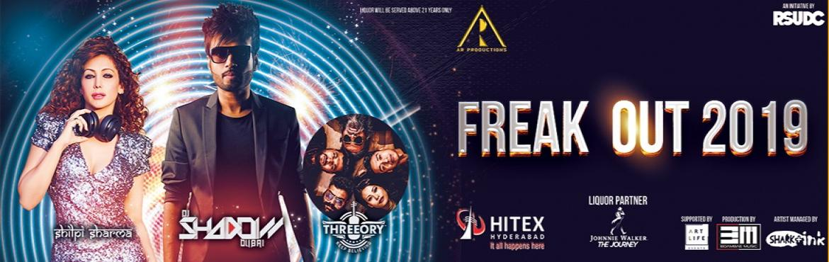 Book Online Tickets for Freak Out 2019 at Hitex, Hyderabad. Hello Hyderabad! New year\'s round the corner and here\'s an exciting news to top it off! Hyderabad is hosting one of the biggest New Year events, this 2019, at Hitex Grounds with a sizzling DJ show by DJ Shadow from Dubai, DJ Shilpi from Mumba