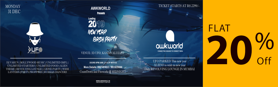 Book Online Tickets for Biggest New Year Bash - 2019 with Awkwor, Mumbai. Are you ready to witness a magnificent sight when it hits the midnight? As the countdown begins and old year ends.. we invite you to welcome another year with your new friends…. We would be happy to have you with us at this special time