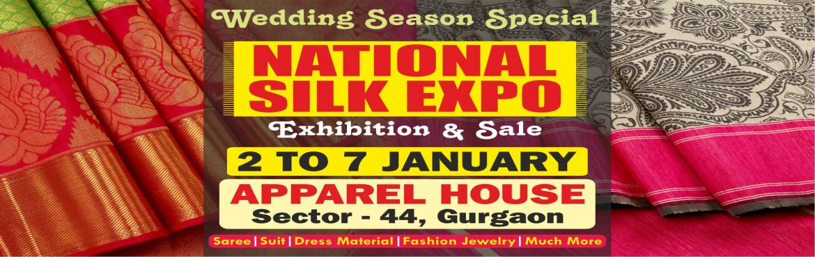 Book Online Tickets for National Silk Expo, Gurugram. Bringing India's rich handloom traditions from different parts of the country under one roof, National Silk Expo being organised here from 2nd to 7th January 2019. While the exhibition is helping buyers to do shopping for the ongoing wedding se