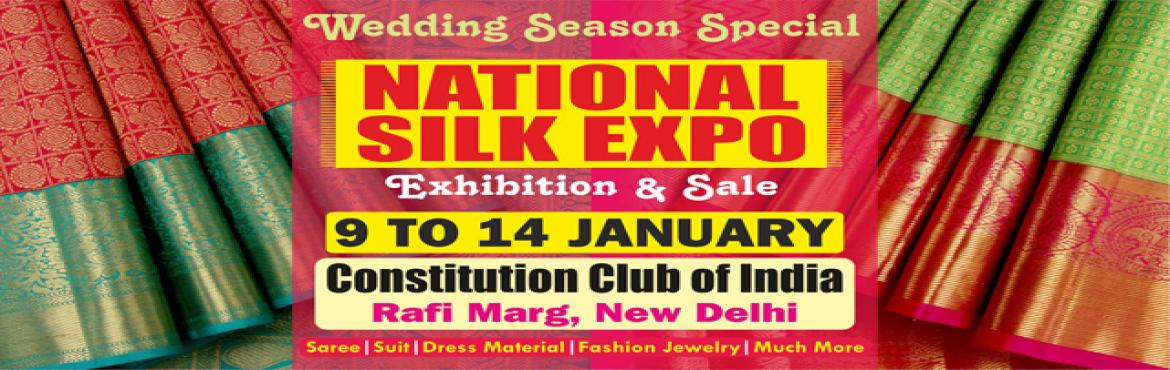 Book Online Tickets for National Silk Expo, New Delhi. Bringing India's rich handloom traditions from different parts of the country under one roof, National Silk Expo being organised here from 9th to 14th January 2019. While the exhibition is helping buyers to do shopping for the ongoing wedding s