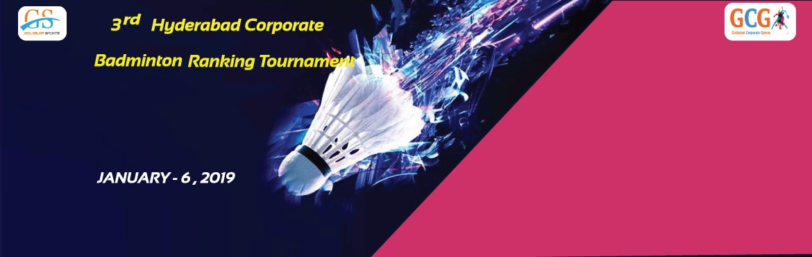 Book Online Tickets for 3rd Hyderabad Corporate Badminton Rankin, Hyderabad. GOLDSLAM sports is back with its corporatte ranking tournament for Badminton lovers in Hyderabad city. COrporate players hve a break from regular works and participate in your loving game. Events: Mens singles & doubles Mens 35+ singles & Dou