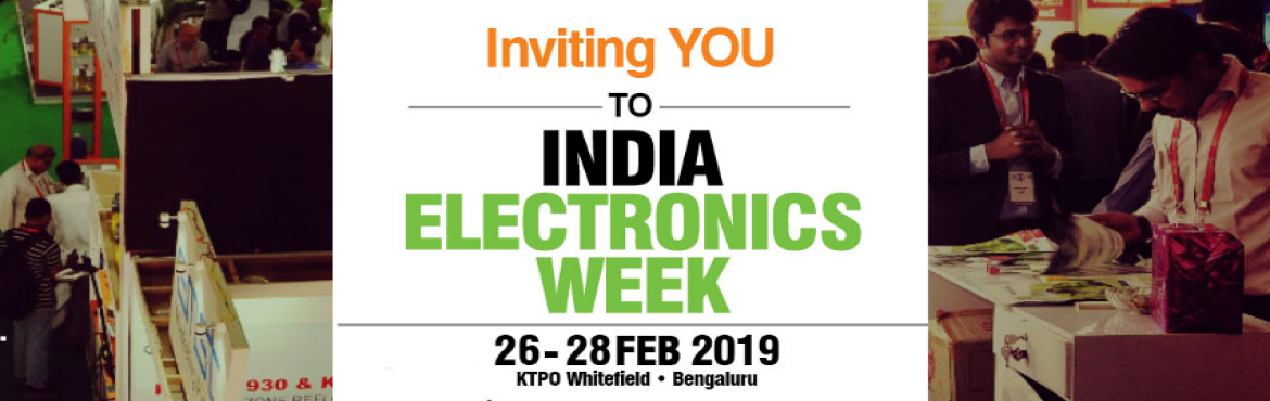 Book Online Tickets for India Electronics Week, Bengaluru. India Electronics Week is an annual event organised by the Electronics For You team. It's a mega show with multiple co-located events including expositions, conferences and seminars. The aim of IEW is to promote and enable development