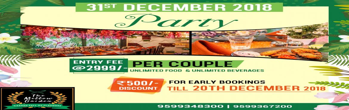 Book Online Tickets for 31st December 2018 Party Bookings for Th, Gurugram. Dear All Now we are organizing a 31st Party on coming 31st December 2018, the details given below : Entry Fee – 2999/- per couple (including unlimited Food & unlimited Beverages) So kindly send the leads for the above party also pls find at