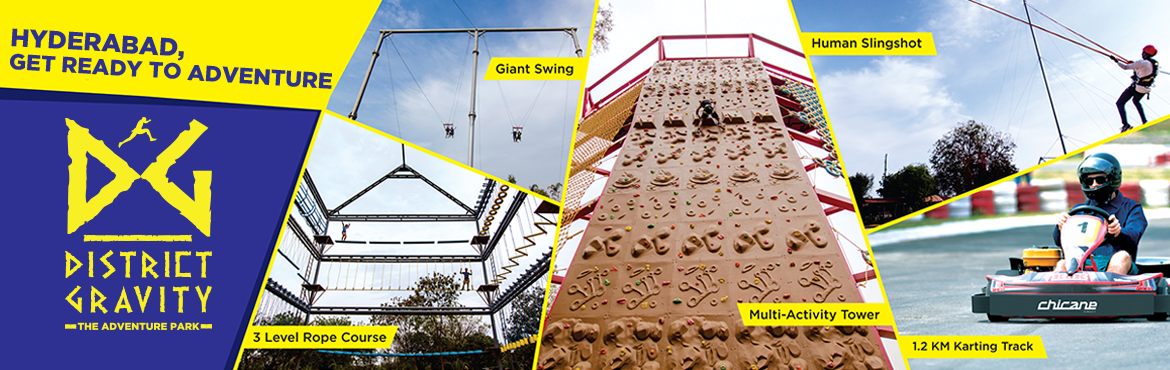 Book Online Tickets for District Gravity - The Adventure Park, Secunderab.  COMMANDO ( INR 999 /- )  A riveting package for those who make everything they do an adventure.  Rope Course (3 levels – 33 activities) Multi-Activity Tower (Wall Climbing, Rappelling, Para Jump, Net Climbing, Slithering, Multiple Climbi