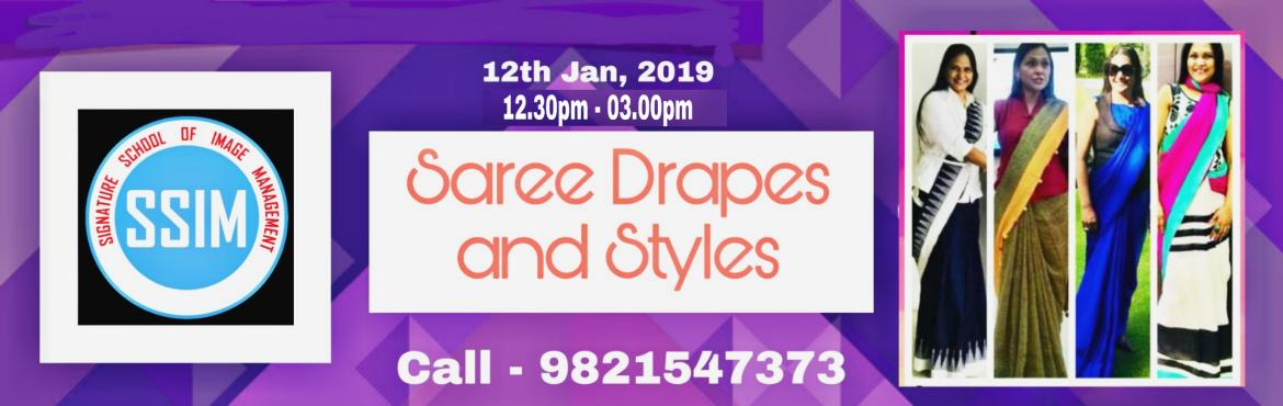 Book Online Tickets for Saree Draping and Styling Workshop by An, Navi Mumba.  DRAPES AND STYLES  A complete saree styling workshop by Saree Passionista Anu Malla  JAN 12th, 2019 . SATURDAY 12.30 PM - 03.00 PM  What's in: 1- Learn unconventional drapes & styles  2- Scale up y