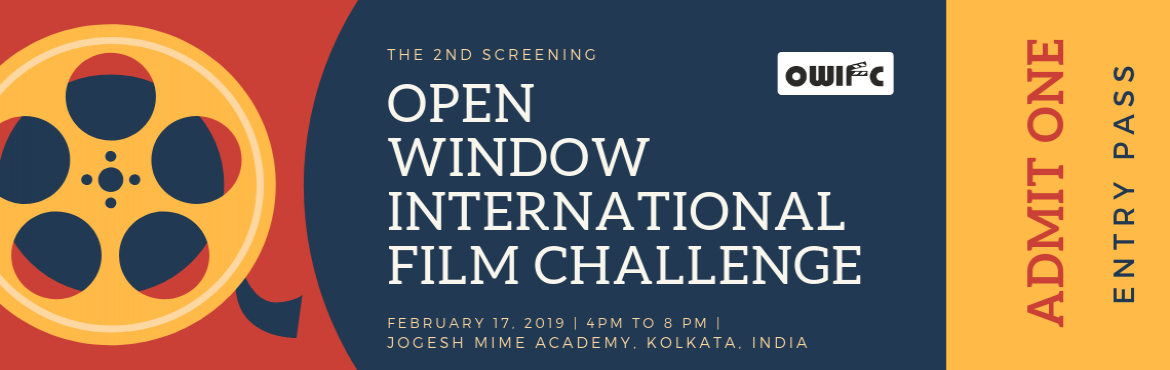 Book Online Tickets for Open Window International Film Challenge, Kolkata. Opem Window International Film Challenge is a non-sponsored, independently organized short film festival which came into being for the sheer love of this gorgeous art form.We look forward to seeing you at the Jogesh Mime Academy on 17th February, 201