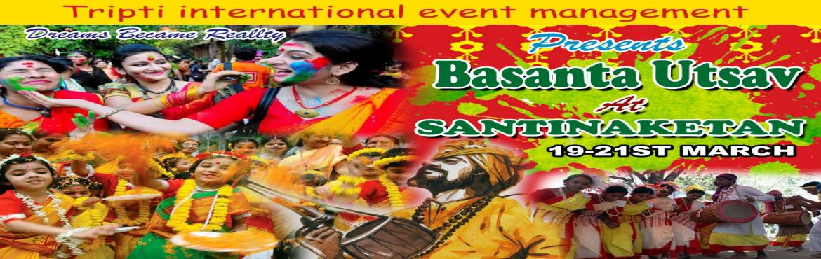 Book Online Tickets for basanta utsav at santiniketan, Santiniket. We are going to arrange Basanta Utsav at Santiniketan this year.Its the place where Rabindranath Tagore used to play holi.Playing holi at Santiniketan is matter of pride. Date & Time: We will reach Santiniketan on 19th March\'19 in thr afternoon.