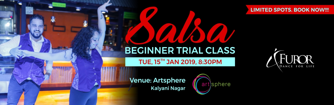 Book Online Tickets for Salsa Beginner Trial Class - Tue, 15th J, Pune.  Start your NEW YEAR with style and groove with SALSA DANCE.   Designed for both non-dancers and dancers alike, this super fun and popular class is a perfect way to start your journey as a Salsa dancer. :)   Date: 15th Jan 2019 (Tuesday)   Time: 8:30