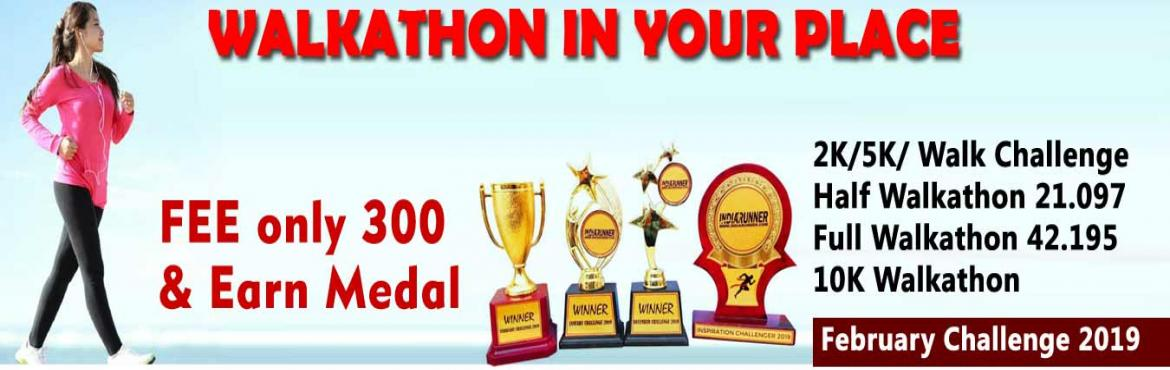 Book Online Tickets for 2K/5K/10K/21K/42K WalkFebruary Challenge, Hyderabad. February Challenge 20182K/5K Walk/Jog 22 days in a monthComplete Your Walk in Your Own Time at Your Own Pace Anywhere in the World!OVERVIEWEVENT DESCRIPTION:Walk/Jog from any location you choose. You can walk, jog on the road, on th